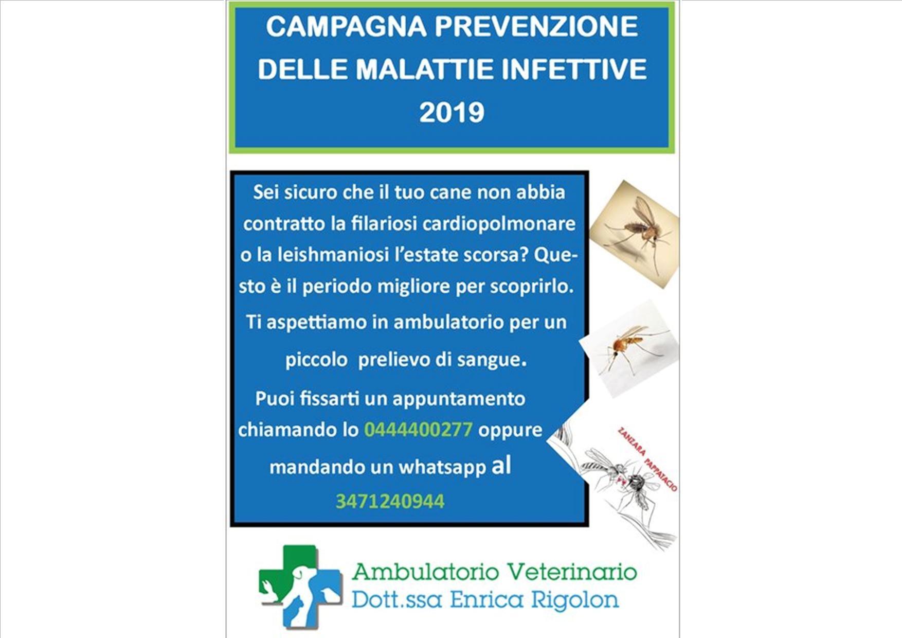 Campagna Prevenzione malattie infettive 2019